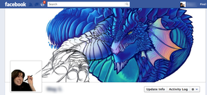 Dragon on my Facebook by MegSyv