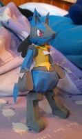 Lucario Papercraft by WhiterStar