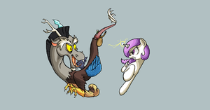 Celestia VS Discord by Cave-Shinobi