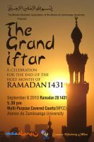 Grand Iftar 2010 Poster by uncannyNuncertainty