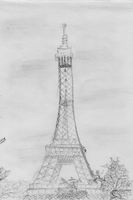 Eiffel Tower Sketch by Reimei00