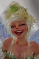 Tinkerbell fairy laughing by SutherlandArt