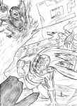 Magneto and Amaterasu vs Super-Skrull for Lun-Sei by Amrock