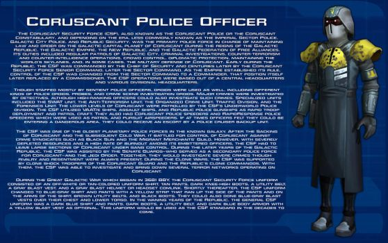 Coruscant Police Officer tech readout [New] by unusualsuspex