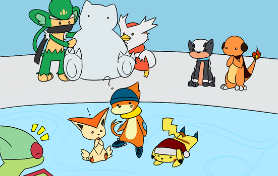 Pokemon Winter Wonderland by BuizelKnight