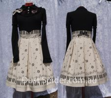 Lolita Piano Skirt by MorbidPrincess122