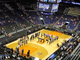 Mesquite Marching Band Peformance at Suns Game by BigMac1212