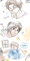 APH-- Yes No pillow Drama by aphin123