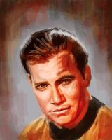 Sketch of Captain Kirk by rflaum