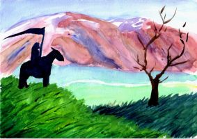 Rider on the hill by kalany