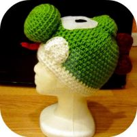 Crochet Yoshi Beanie by AAMurray