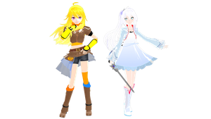 (MMDxRWBY) Yang + Weiss DL by naruchan101
