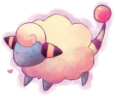 Mareep drawing by TogemissEve