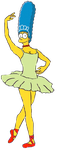 Marge Simpson as a Ballerina by darthraner83