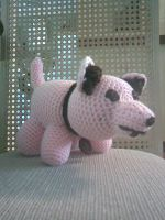 Crocheted Wolf - Angled View by FMAInuYasha