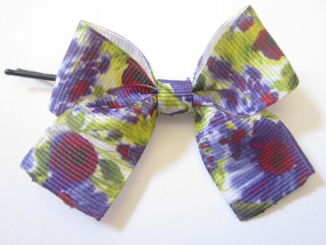 Floral bobby pin bow by 1Kamichama