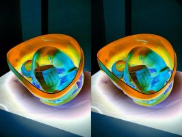 Psychedelic Glass Cup Music by Chihuli by aegiandyad