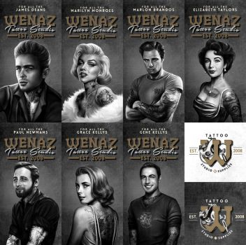 work: stars with tattoos by pbozproduction