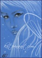 You look so sad and blue ACEO SKETCH FEST 22 by Katerina-Art