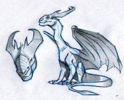 Dragon Sketch by RobtheDoodler