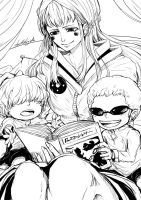 Corazon week: Day 1 - Donquixote Family by DarthShizuka