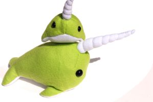 Snuggly Lime Narwhals by BeeZee-Art