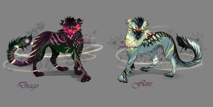 Drago and Flare Auction adopt [close] by Furrirama