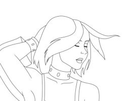 Drawing of Rogue ::outline:: by ChaseYoungFangirl