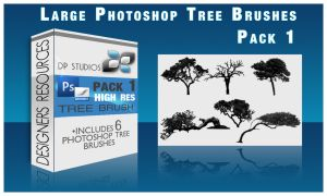 6 Photoshop Tree Brushes by DigitalPhenom
