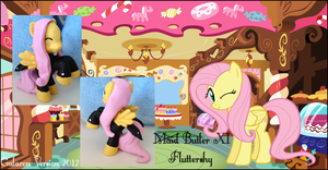 My Little Pony FIM Butler Fluttershy Custom Pony by Asukatze