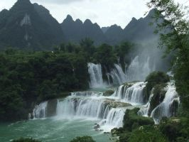 Detian Falls, China-Vietnam Border by farmeramaaid