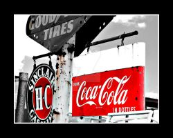 Coca Cola Sign Bottles by houstonryan