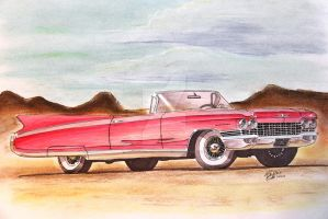 1960 Cadillac Eldorado Biarritz Drawing by prestonthecarartist