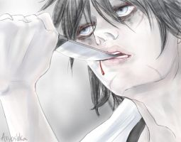 First day of Jeff the killer by Aryoshka