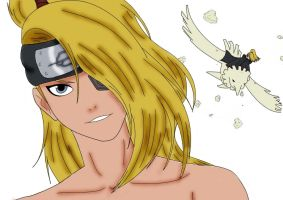 Deidara colored using Gimp by akatsuki-girl-krista