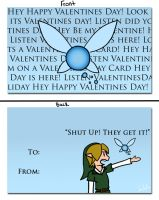 Valentine 4 - LOZ - Happy Valentines from Navi by ImzadAmyMoon
