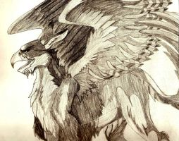 Shaded Gryphon by 1Rootbeer