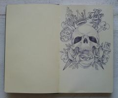 skull and stuff by shitShyle