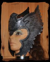 Valkyrie  leather tiara by Lagueuse