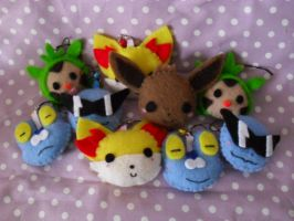 Pokemon Head Charms by Sexual-Pancake