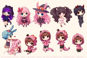Tiny Chibis Commissions [2] by Hyanna-Natsu