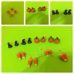 Polymer Clay Halloween Earrings by chikki587