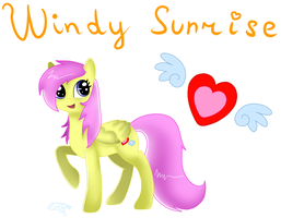 Windy Sunrise-New Character by CoolMDrawings