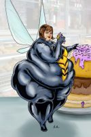Fat Wasp of the Avengers by Ray-Norr