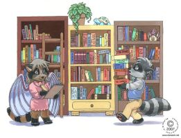 The Raccoon's Bookshelf by KaceyM