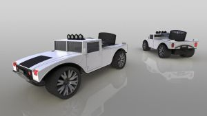 3D Hummer Toy Car Part 01 by KILLER-LAMB