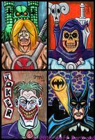 4x6 cards Heroes vs Villians by Dr-Twistid