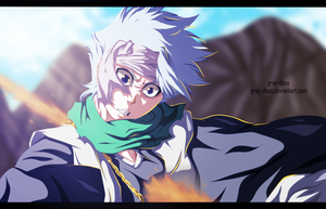 Bleach 550 - hitsigaya toshiro's death by Gray-Dous