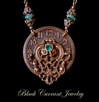 Decorated Watch Necklace by blackcurrantjewelry