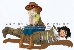 033. At the PokeDude Ranch: Cowboy/Cowgirl Outfits by Hakui-Kitsune